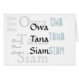 Owa Tana Tailandia -- Una disculpa Tarjeta De Felicitación
