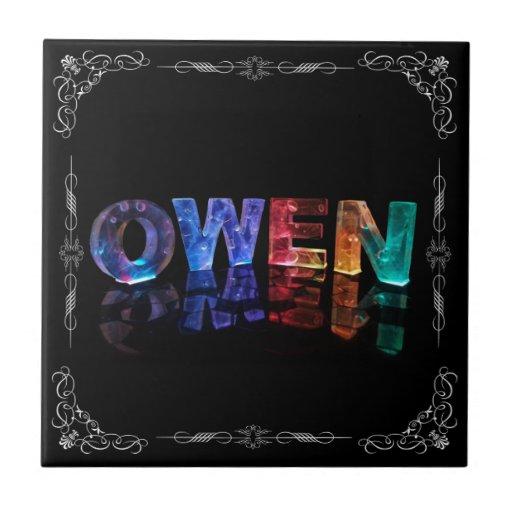 Owen - Owen conocido en las luces 3D (fotografía) Teja Cerámica