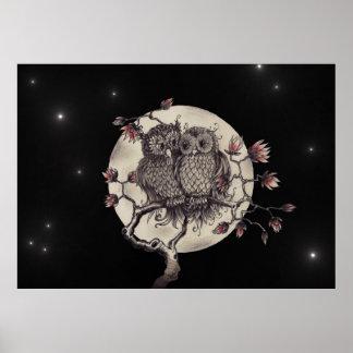 Owls enamoró En Love lechuzas - Poster