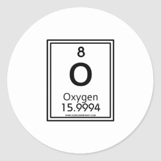 Oxígeno 08 pegatina redonda