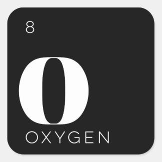 Oxígeno de //del pegatina de los elementos de