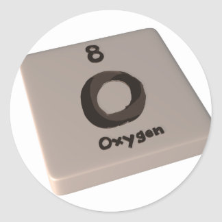 Oxígeno de O Pegatinas Redondas