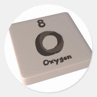 Oxígeno de O Pegatina Redonda