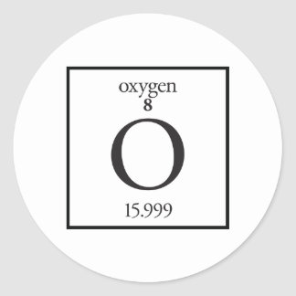 Oxígeno Pegatina Redonda