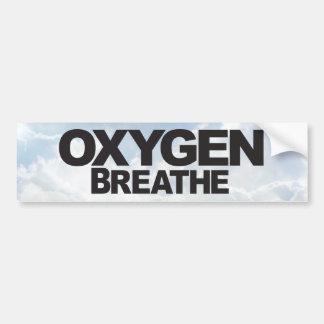 Oxígeno - pegatina para el parachoques pegatina para coche