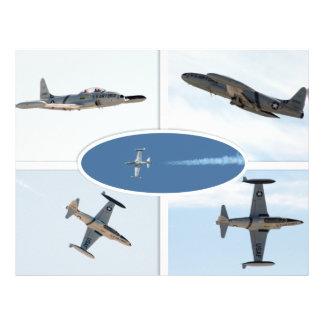P-80 sistema del avión de la estrella fugaz 5 tarjetas informativas