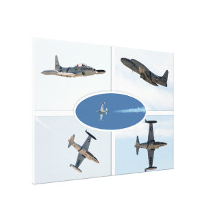 P-80 sistema del avión de la estrella fugaz 5 impresión en lienzo estirada