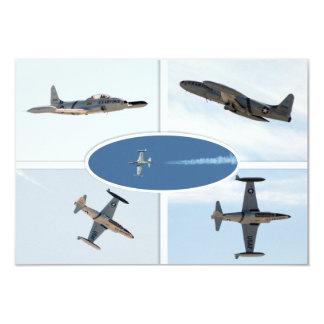 P-80 sistema del avión de la estrella fugaz 5 invitación 8,9 x 12,7 cm