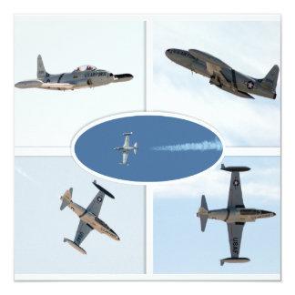 P-80 sistema del avión de la estrella fugaz 5 invitación 13,3 cm x 13,3cm