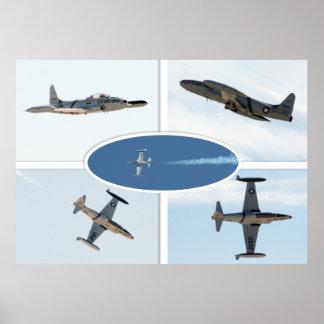 P-80 sistema del avión de la estrella fugaz 5 póster