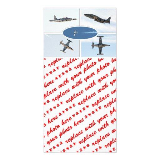 P-80 sistema del avión de la estrella fugaz 5 tarjeta personal con foto