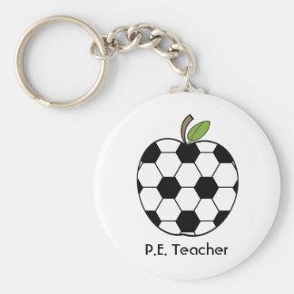 P.E. Llavero del profesor - balón de fútbol Apple
