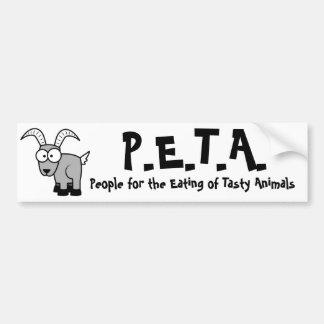 P.E.T.A. divertido Pegatina Para Coche