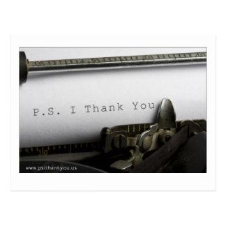P.S. Le agradezco postal