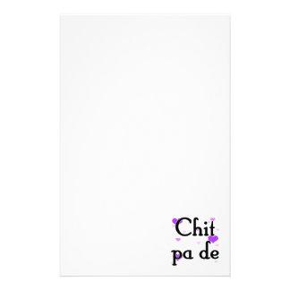 PA de - birmano del Chit - te amo (3) Purple Heart Papeleria