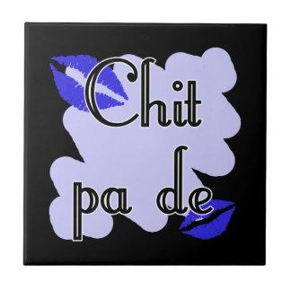 PA de - birmano del Chit - te amo (4) besos azules Azulejo Cuadrado Pequeño