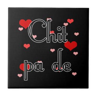 PA de - birmano del Chit - te amo (4) corazones Azulejo Cuadrado Pequeño