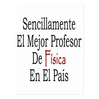 PA del EL de profesor De Fisica En del EL Mejor de Tarjeta Postal