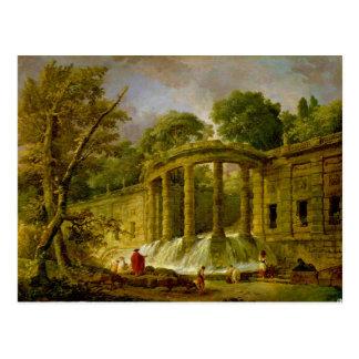 Pabellón con la cascada, 1760 postal