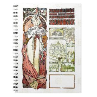 Pabellón del austriaco de Alfons Mucha 1900 Cuaderno