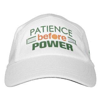 """Paciencia antes gorra de Pickleball del poder"" Gorra De Alto Rendimiento"