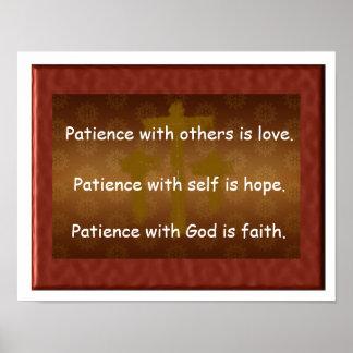 Paciencia con dios póster