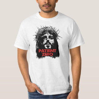 Paciente cero del zombi de Jesús Camiseta
