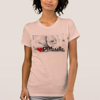 Pacientemente esperando (pitbulls del corazón) camisetas