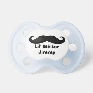 Pacificador conocido personalizado del bigote para chupetes para bebés