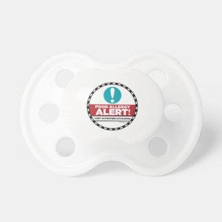 Pacificador de la alarma de la alergia alimentaria chupete