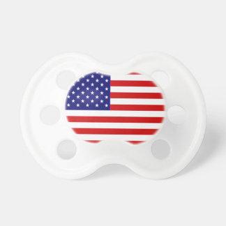 Pacificador de la bandera americana chupete
