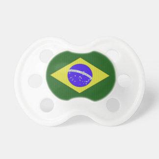 Pacificador del bebé de la bandera del Brasil Chupete De Bebe