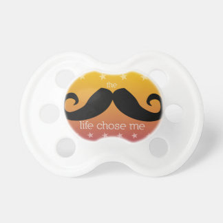Pacificador del bigote para el bebé (naranja de la chupetes para bebés