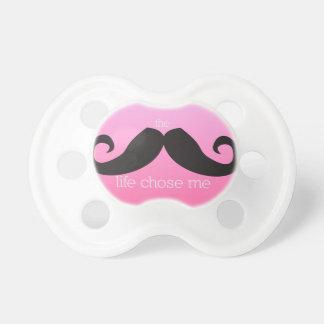 Pacificador del bigote para el bebé (rosa) chupetes para bebes