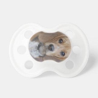 Pacificador del perrito del beagle chupete de bebe