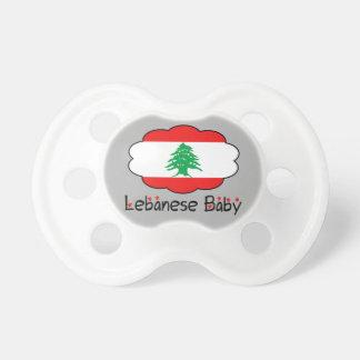 Pacificador libanés del bebé chupete