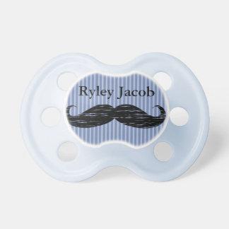 Pacificador negro personalizado del bebé del chupetes para bebés