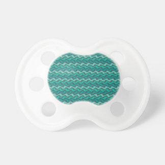 Pacificador ondulado de la aguamarina chupetes para bebes