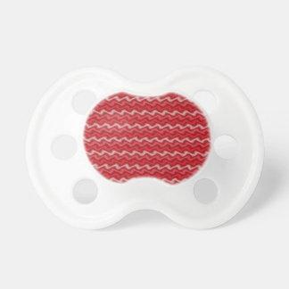 Pacificador rojo ondulado chupetes para bebes