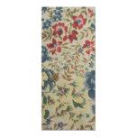 """padrão de flores convite 10.16"""" x 23.49cm"""
