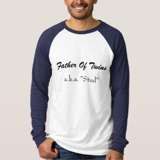 """Padre de gemelos, a.k.a. del """"perno prisionero """" camiseta"""