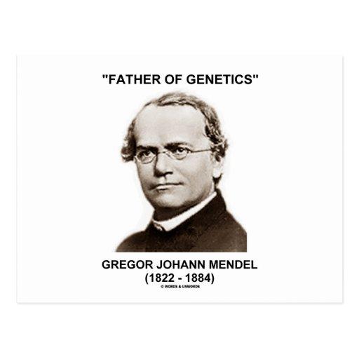 Padre de la genética Gregor Juan Mendel Postal