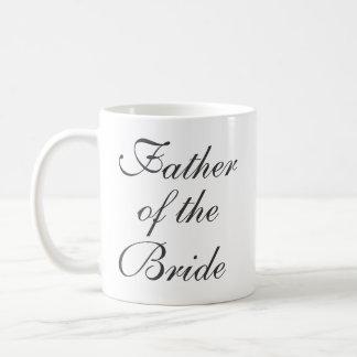 Padre de la reserva de la novia la taza del