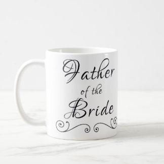 Padre de la taza del texto de la novia solamente