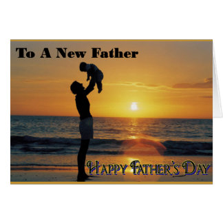 Padre del día de padre Tarjeta-Nuevo Tarjeta De Felicitación