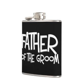 Padre del frasco del regalo de boda del novio petaca