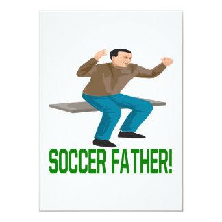 Padre del fútbol invitacion personalizada