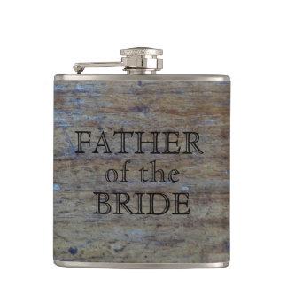 Padre del grano rústico de madera del boda de la petaca
