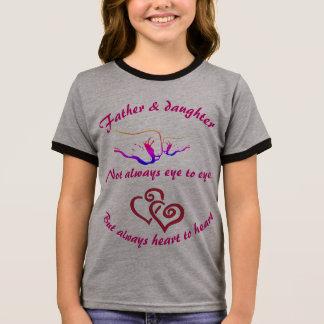 Padre e hija camiseta ringer
