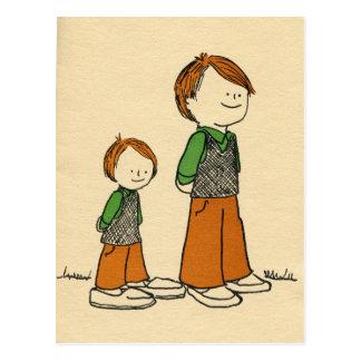 Padre e hijo postal